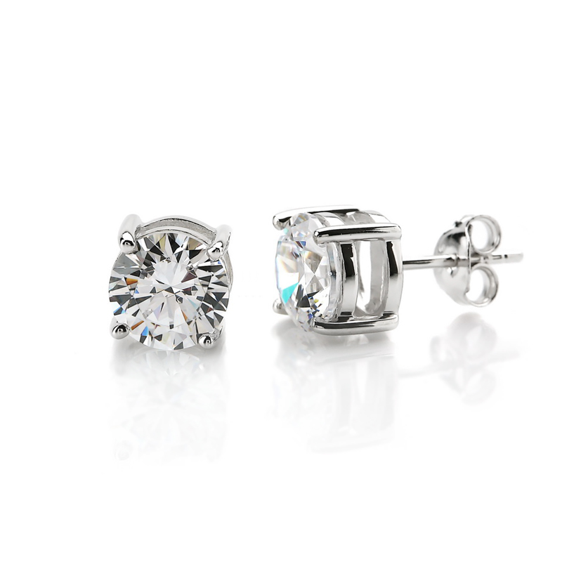 2ct Solitaire Stud Earrings